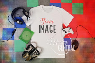 Video Gamer T-Shirt Mockup JPG Graphic Product Mockups By Mockup Central