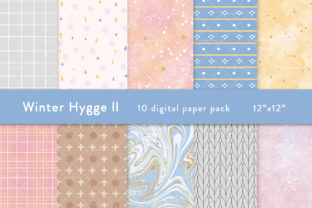 Winter Hygge Digital Papers Graphic Patterns By SincerelyNix