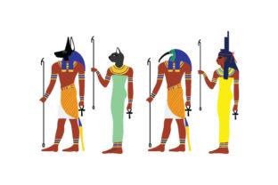 Egyptian Gods and Goddesses Religious Craft Cut File By Creative Fabrica Crafts