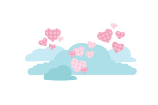Buffalo Plaid Heart Cloud Valentine's Day Craft Cut File By Creative Fabrica Crafts