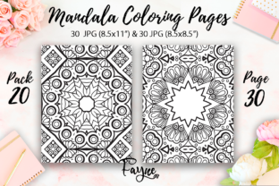 Print on Demand: Adult Mandala Coloring Pages Pack 20 Graphic Coloring Pages & Books Adults By Fayne