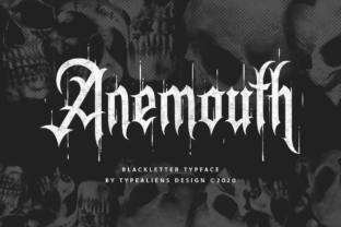 Print on Demand: Anemouth Blackletter Font By typealiens
