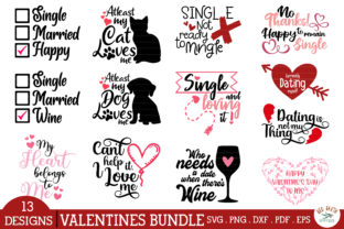 Anti Valentines Day Quotes Bundle SVG Graphic Crafts By redearth and gumtrees
