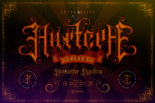 Print on Demand: Auxtera Circa Blackletter Font By ilhamtaro