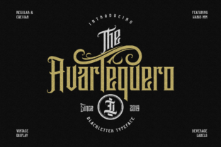Print on Demand: Avartequero Blackletter Font By ilhamtaro
