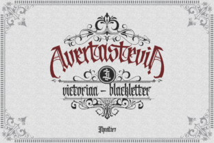 Print on Demand: Avertastevia Blackletter Font By ilhamtaro
