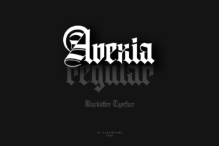 Print on Demand: Avexia Blackletter Font By ilhamtaro