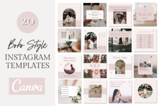 Boho Instagram Post Templates Canva Graphic Graphic Templates By hayleyameliacreative