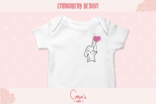 Bunny with Balloon Baby Animals Embroidery Design By carasembor