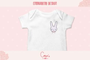 Bunny with Bow Baby Animals Embroidery Design By carasembor