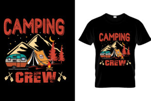 Print on Demand: Camping Crew Graphic Print Templates By merchbundle