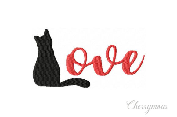 Cat Love Cats Embroidery Design By CherrymoiaEmbroidery