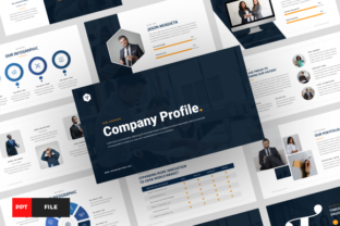 Company Profile Powerpoint Template Graphic Presentation Templates By yovinugraha11