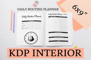 Print on Demand: Daily Routine Planner | KDP Interior Graphic KDP Interiors By KDP Mastermind