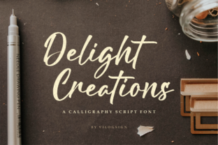 Print on Demand: Delight Creations Script & Handwritten Font By Vilogsign