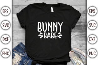 Print on Demand: Easter SVG Design, Bunny Babe Graphic Print Templates By GraphicsBooth