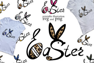 Easter Lettering with Bunny Ears Svg Graphic Add-ons By EvArtPrint