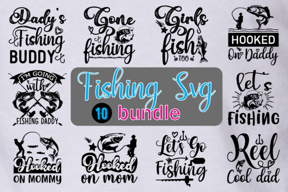 Download Fishing Svg Bundle Graphic By Creative Store Net Creative Fabrica