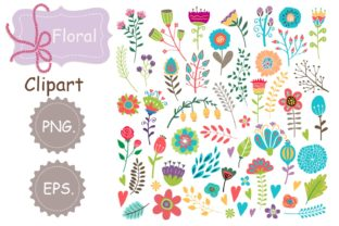 Print on Demand: Floral Clipart Graphic Ilustraciones By Zweed n roll Clipart