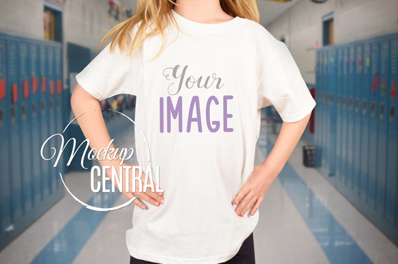 Girl Student School T-Shirt Mockup Graphic Product Mockups By Mockup Central