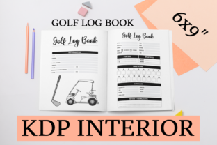 Print on Demand: Golf Log Book | KDP Interior Graphic KDP Interiors By KDP Mastermind