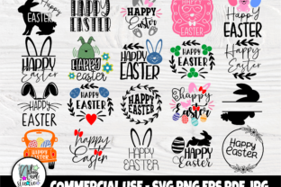 Print on Demand: Happy Easter SVG, Easter Bunny Svg Graphic Crafts By nibaartstudio