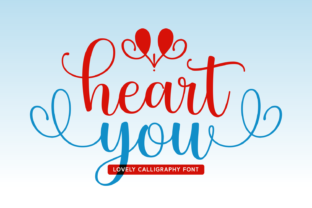 Print on Demand: Heart You Script & Handwritten Font By Lian-7NTypes