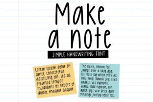 Print on Demand: Make a Note Script & Handwritten Font By Jyllyco