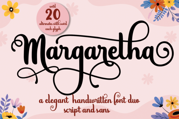 Print on Demand: Margaretha Script & Handwritten Font By Mozarella