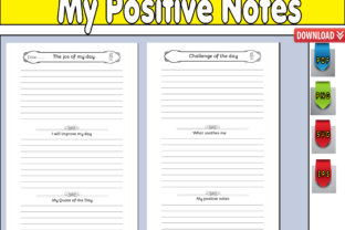 Print on Demand: My Positive Notes Graphic KDP Interiors By kdp Edition