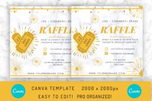 Raffle Flyer Template in Canva Graphic Graphic Templates By EfficientTools