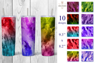 Print on Demand: Rainbow Textured Paper, Skinny Tumbler Graphic Textures By NatashaPrando