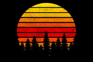 Retro Vintage Sunset Backround PNG File Graphic Backgrounds By Fundesings