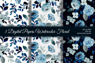 Print on Demand: Seamless Pattern Floral Watercolor 131 Graphic Patterns By asrulaqroni