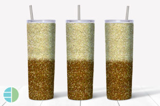Skinny Tumbler Sublimation Red and Gold Graphic Illustrations By Enliven Designs