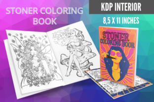 Stoner Coloring Book (17 Pages - Adults) Graphic KDP Interiors By Piqui Designs