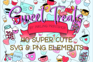 Print on Demand: Sweet Treats Valentine Clipart SVG & PNG Graphic Illustrations