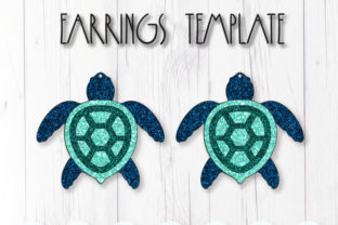 Turtle Earrings Template Graphic 3D SVG By ArtiCuties