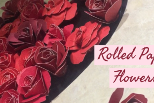 Valentine's Shadow Box: How to Make Rolled Paper Flowers