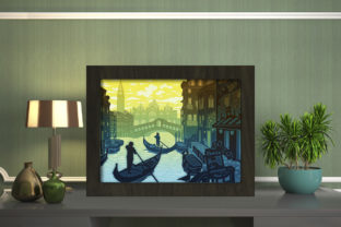 Print on Demand: Venice Light Box Shadow Box Graphic 3D Shadow Box By LightBoxGoodMan