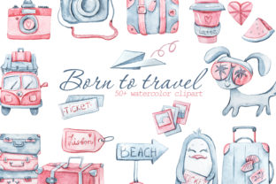 Print on Demand: Watercolor Nursery Travel Clipart Graphic Illustrations By Tiana Geo
