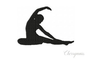Yoga Revolved Head to Knee Pose Wellness Embroidery Design By CherrymoiaEmbroidery