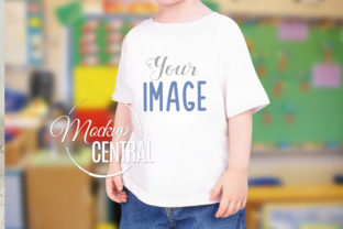 Youth Boy's School T-Shirt Mockup Graphic Product Mockups By Mockup Central