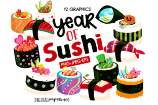 Print on Demand: A Year of Sushi Graphic Illustrations By DigitalPapers