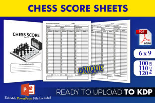 Print on Demand: Chess Score Sheets KDP Interior Template Graphic KDP Interiors By Beast Designer