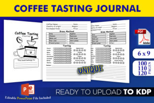Print on Demand: Coffee Tasting Journal | KDP Interior Graphic KDP Interiors By Beast Designer