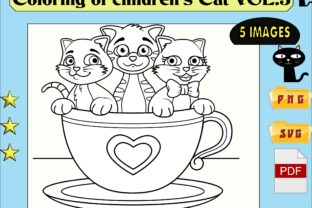 Print on Demand: Colorings Cat for Children Vol. 3 Graphic Coloring Pages & Books Kids By kdp Edition