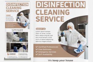 Disinfection Cleaning Service Banner Graphic Print Templates By medzcreative