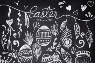 Easter Chalk Collection Graphic Illustrations By ArtstudioByKhushbu