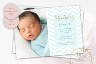 Print on Demand: PSD Birth Announcement Card Template #12 Graphic Print Templates By daphnepopuliers